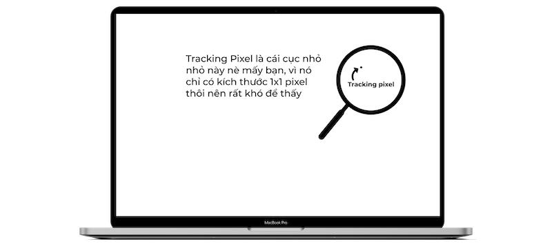 Tracking pixel chỉ hiển thị một pixel rất nhỏ trên màn hình