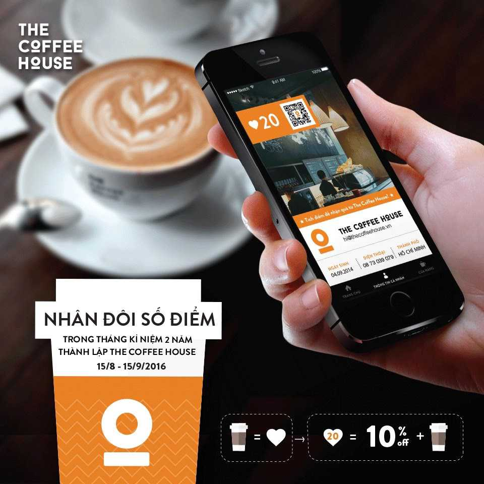 app loyalty the coffee house