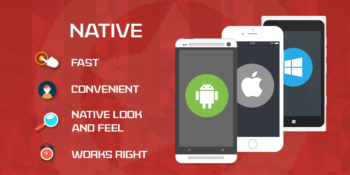 Điểm mạnh đầu tiên và cũng là lợi thế lớn nhất của native app là việc cho phép người dùng truy cập, sử dụng tất cả tính năng một cách dễ dàng; đồng thời cũng rất ít khi gặp lỗi nếu được thiết kế một cách hoàn chỉnh