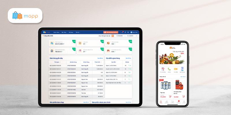 App bán hàng và phần mềm CRM quản lí khách hàng