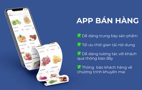app bán hàng app tích điểm app đặt lịch